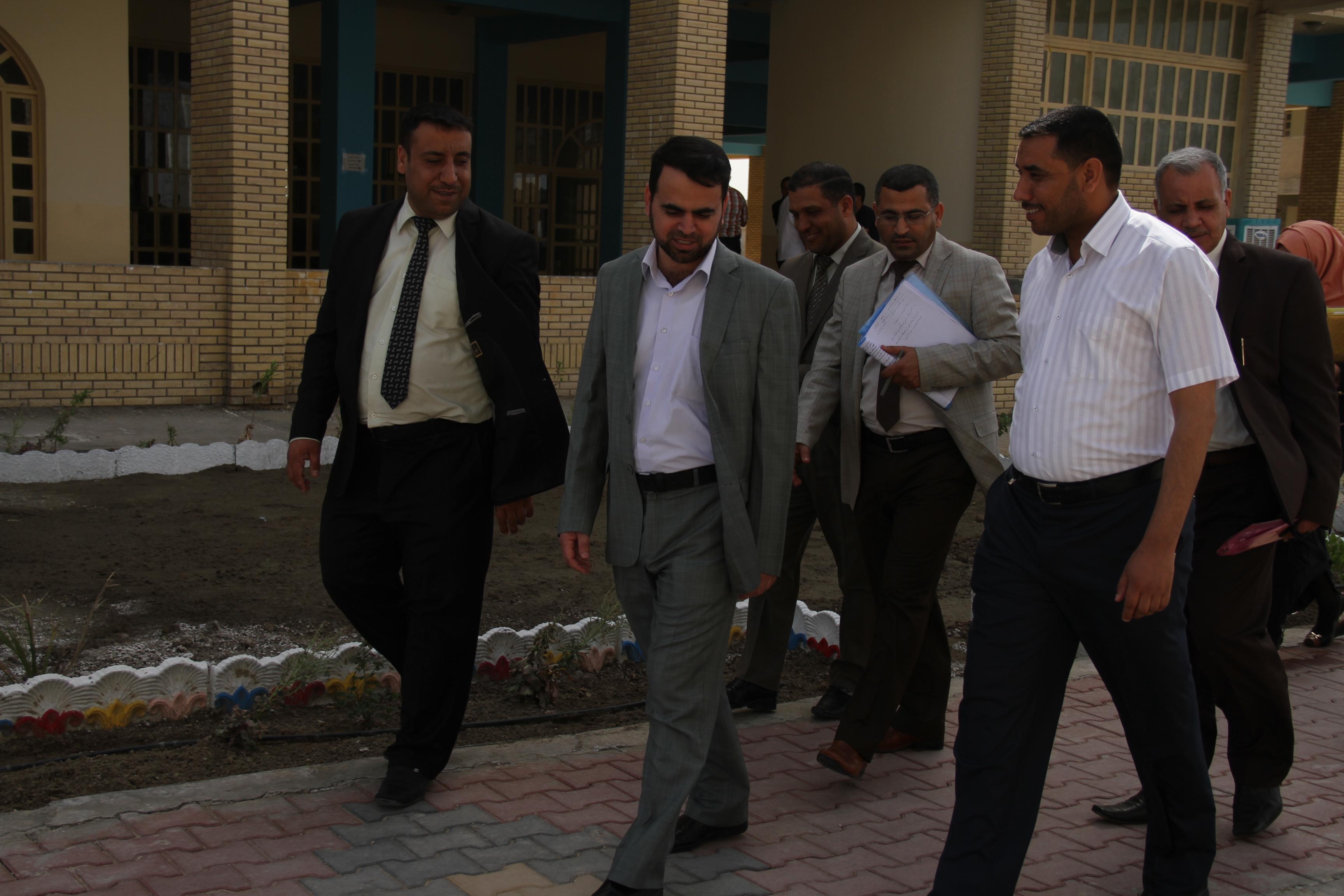 استقبال وفد لجنة النظراء – جامعة كربلاء
