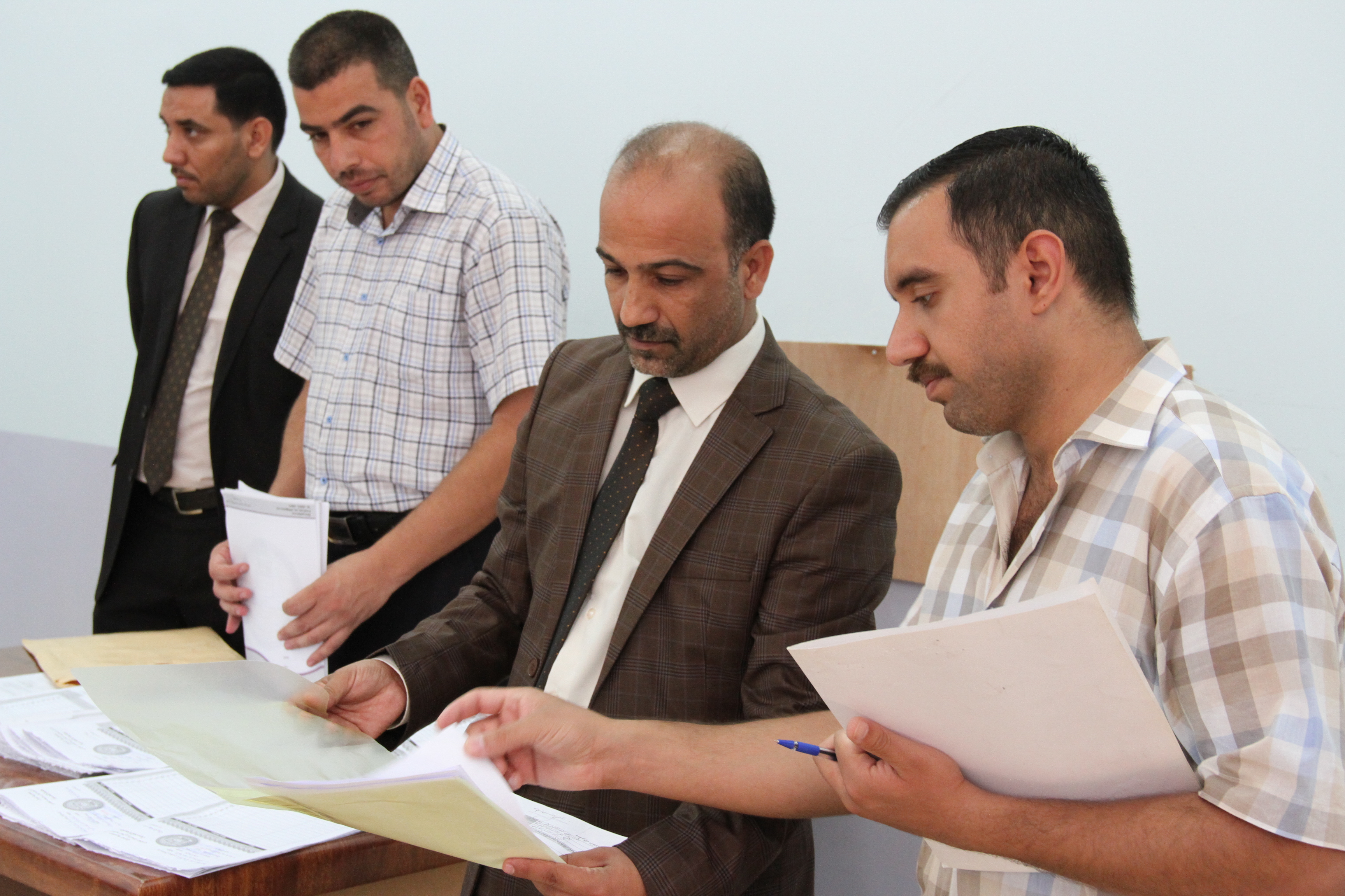 زيارة السيد ممثل جهاز الاشراف والتقويم العلمي في وزارة التعليم العالي والبحث العلمي