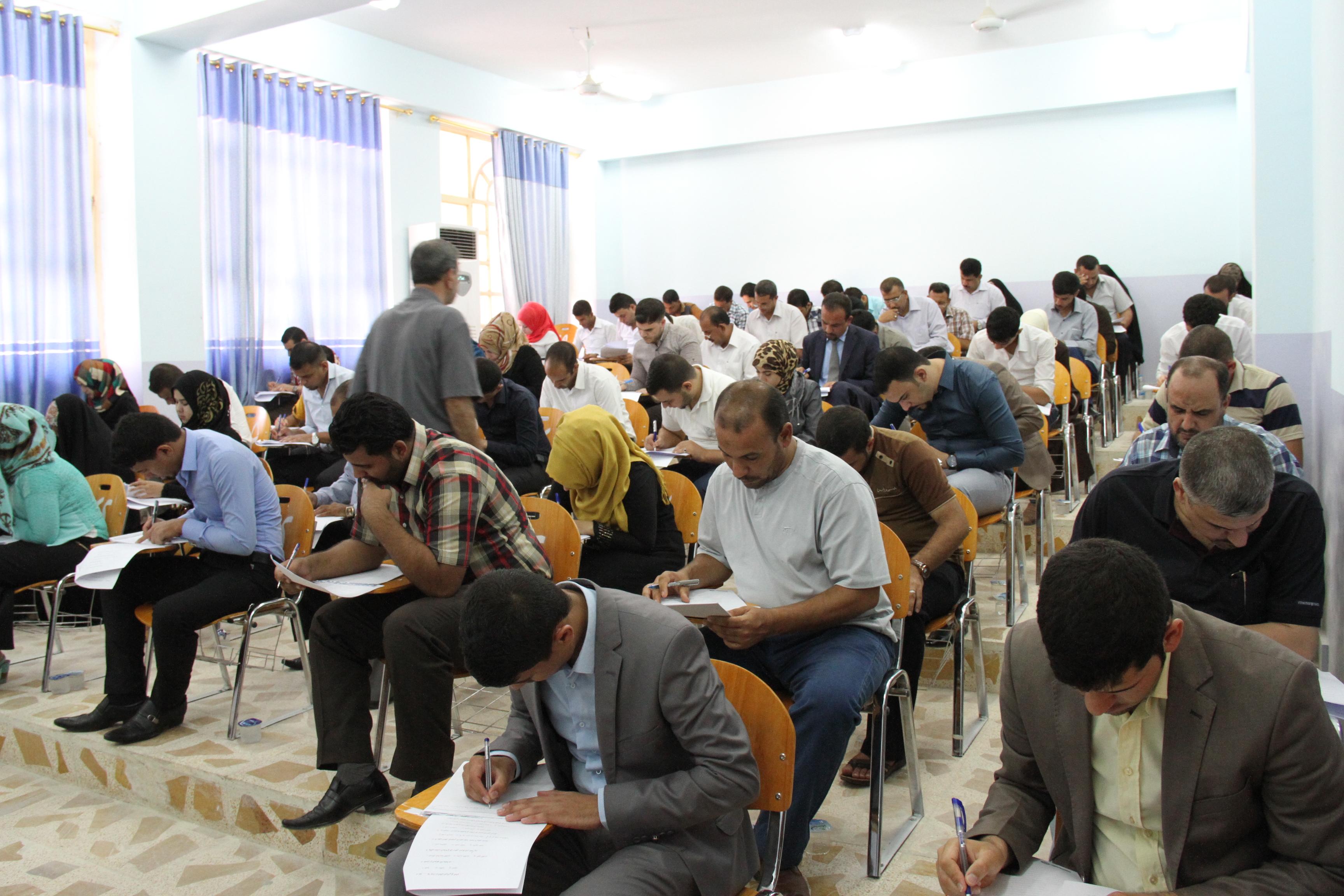 إجراء الامتحان التنافسي للمتقدمين للدراسات العليا للعام الدراسي 2015/2014