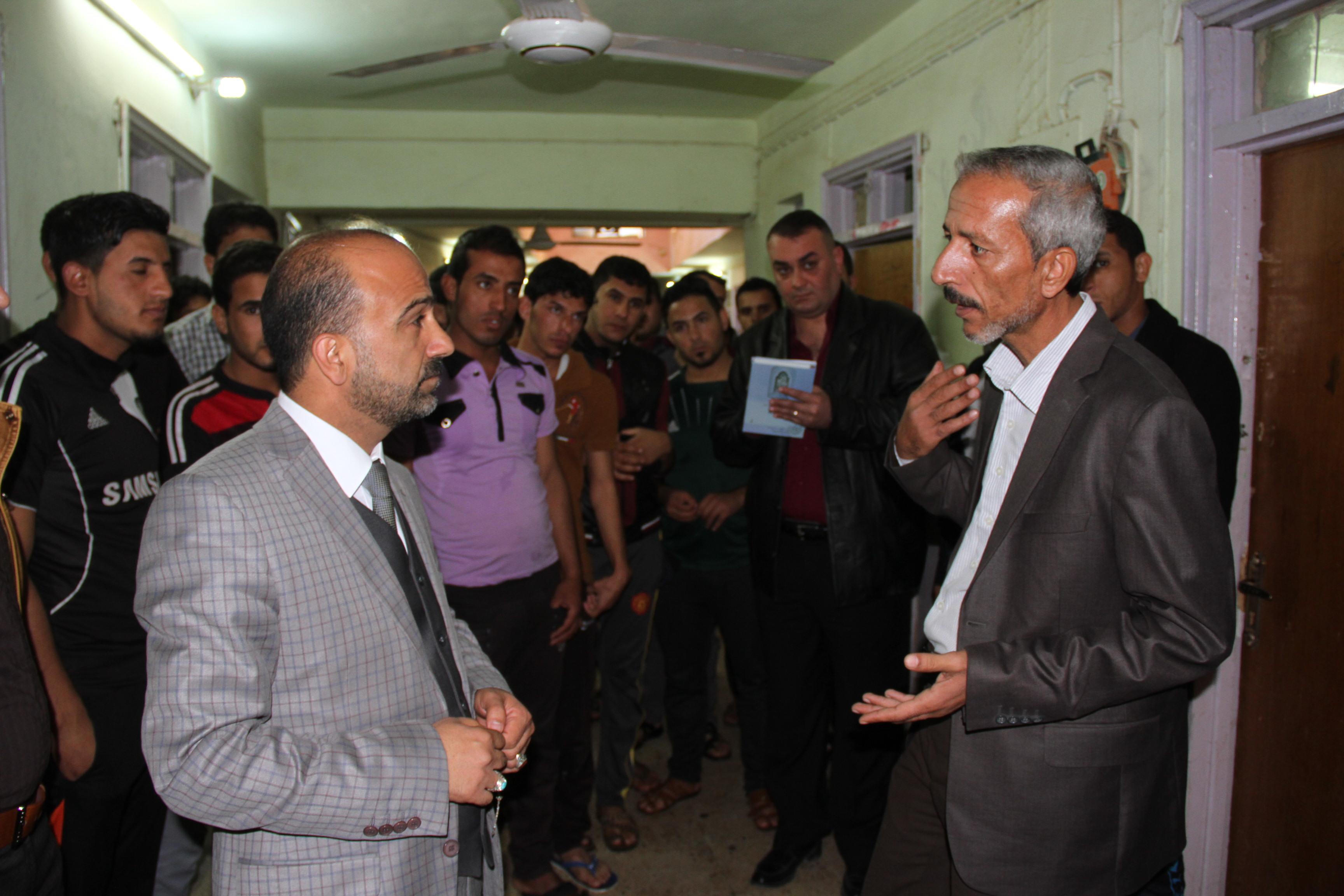 زيارة السيد عميد كلية القانون الى الاقسام الداخلية