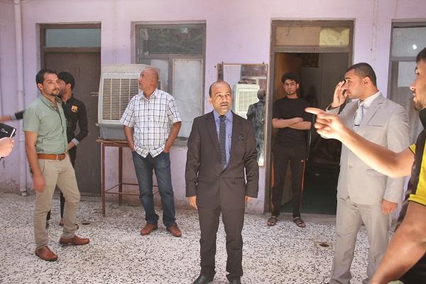 زيارة السيد العميد للاقسام الداخلية للطلبة