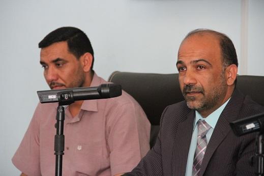 اجتماع السيد عميد كلية القانون مع الموظفين