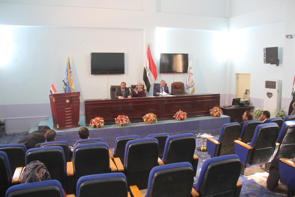 كلية القانون / جامعة القادسية عقدت الحلقة النقاشية بعنوان (النظام الانتخابي العراقي في الميزان)